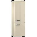 Etna KVV594BEI beige koel-vriescombi. Retro style