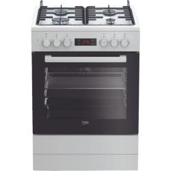 Beko Vrijstaand gasfornuis FSM62320DWS NL wit-zwart met elektrische oven