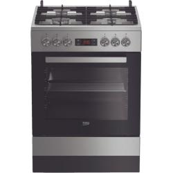 Beko Vrijstaand gasfornuis FSM62330DXS NL inox met elektrische oven